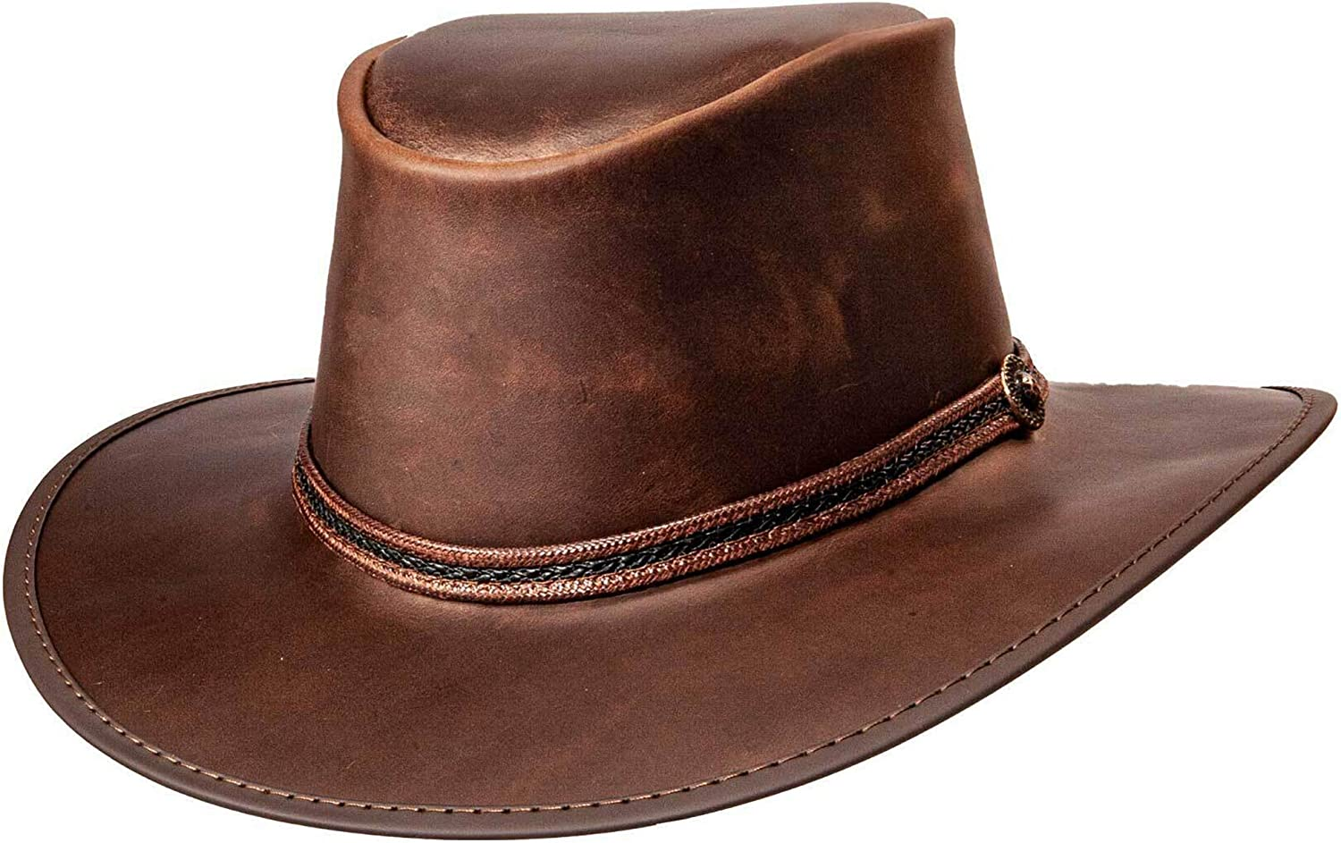 American Hat Makers Ranking TOP17 Midnight Rider for Outback Limited Special Price Leather Bravo
