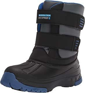 حذاء الثلج للأطفال من سكيتشرز، لون أسود فحمي، 11 طفل كبير