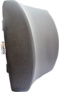 FOVERA Orthopedic Lumbar Support Memory Foam Cushion - Designed for Back Pain Relief- Ideal Back Pillow for Computer/Offic...