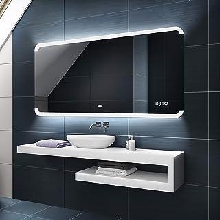 FORAM Moderne Miroir avec LED Illumination Salle de Bain avec Accessoires - sur Mesure - LED Lumineux Miroir avec Éclairag...