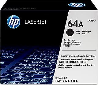 Hewlett Packard HP 64A LaserJet P4010, P4014, P4015, P4515 Series Smart Print Cartridge (10,000 Yield) , Part Number CC364A