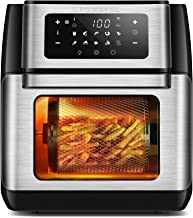 CROWNFUL 9-in-1 Air Fryer Toaster Oven, Convection Roaster with Rotisserie & Dehydrator, 10.6 Quart, Digital LCD Touch Scr...
