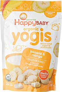Happy Baby Organic Yogis Snacks, Banana Mango, 28g