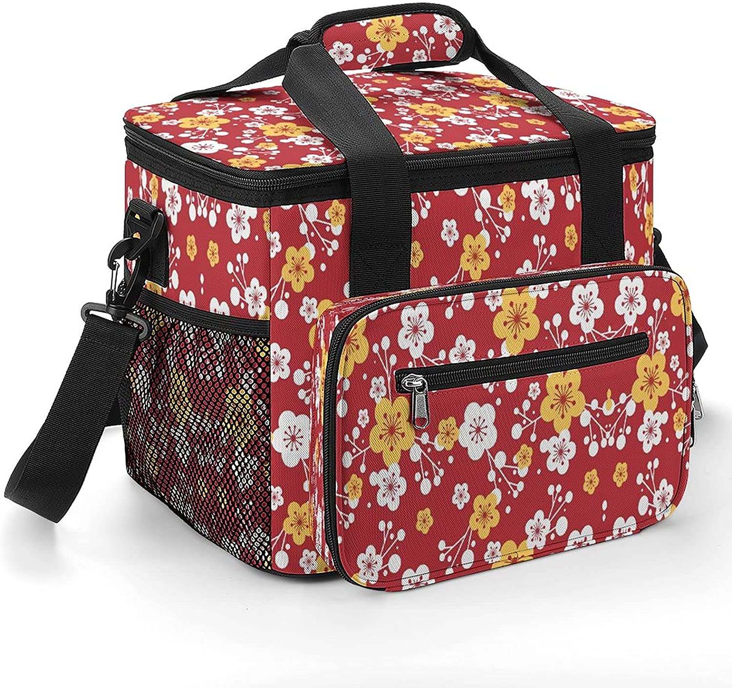 Cherry Flower Cooler Shipping included Bag with Leakproof Strap Max 76% OFF Insulated Shoulder