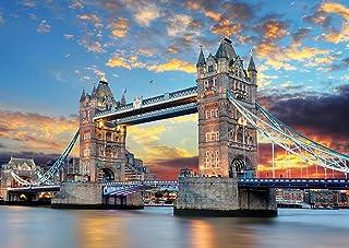 Rocorose 1000 Piece Jigsaw Puzzle, Tower Bridge Floor Puzzle for Kids Adult
