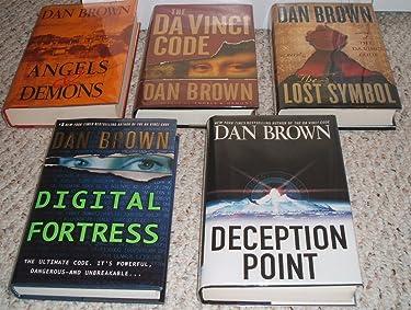 Dan Brown 5 Book Set (Davinci Code /Deception Point /Digital Fortress / Angels & Demons/ the Lost Symbol)
