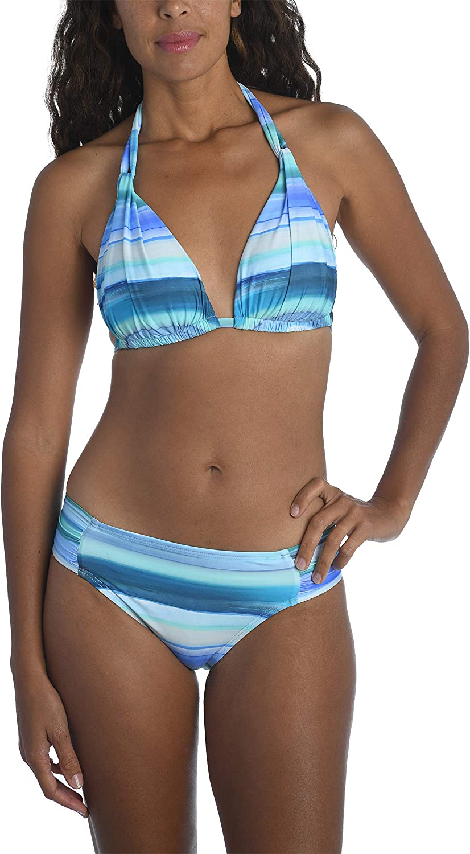 La Blanca Women's Standard Rouched Halter Bikini Swimsuit Top