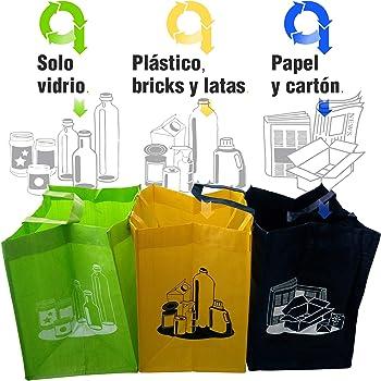 Productos Del Hogar Pack de 3 Bolsas de Reciclaje, Separables ...