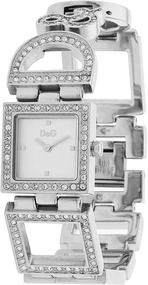 Dolce & gabbana ,orologio per donna,in acciaio inossidabile e pietre DW0030