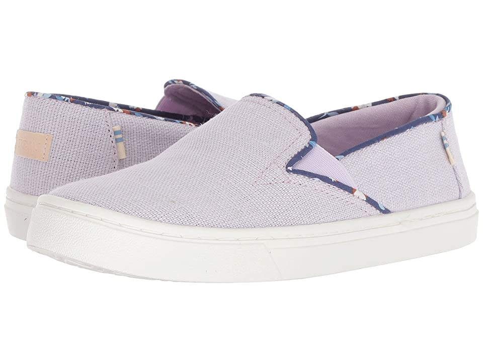 TOMS Kids Luca (Little Kid/Big Kid) (Lavender Heritage Canvas) Girl