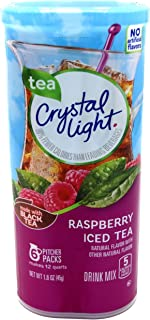 Crystal Light Raspberry Tea, made with Black Tea, (12-Quart) 1.6-Ounce Canisters (Pack of 6)
