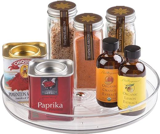 iDesign Küchen Organizer, kleiner Drehteller aus BPA-freiem Kunststoff für den Vorratsschrank, drehbarer Gewürzhalter für Vorratsdosen und Gewürze,…