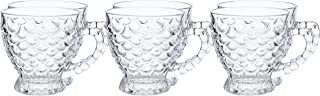 Royalford 6piece Glass Cup Set 5oz, Multi-Colour, RF9647
