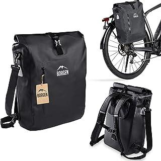 Bolsa de bicicleta para portaequipajes, 3 en 1, mochila para bicicleta, bolsa para portaequipajes, bolso bandolera, 100% impermeable y reflectante, con funda extraíble para portátil