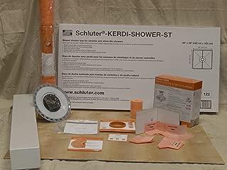 Kerdi-Shower 48 in. x 48 in. PVC Shower Kit with Oil-Rubbed Bronze Drain