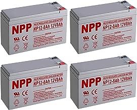 NPPower NP12-8Ah 12V 8Ah SLA Sealed Lead Acid Battery F2 Style Terminals / (4pcs)