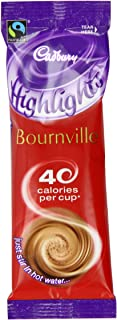 Cadbury Highlights Bournville Dark Hot Chocolate 11 g (Pack of 30 Sticks)