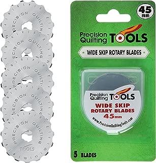 45mm Crochet Edge Skip Blades (Pack of 5) Fits Fiskars, Olfa! Perfect Wide Skip Blade for Crochet Edge Projects, Fleece, and Scrapbooking!