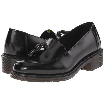 Dr. Martens Favilla Tassel Slip-On Shoe (Black Waxed Polished Smooth) Women