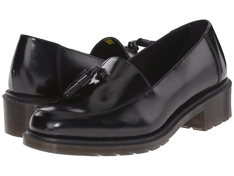 Dr. Martens Favilla Tassel Slip-On Shoe (Black Waxed Polished Smooth) Women