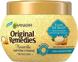 Garnier Original Remedies Elixir de Argán Mascarilla capilar nutritiva cremosa sin silicona para un pelo muy seco y sin br...