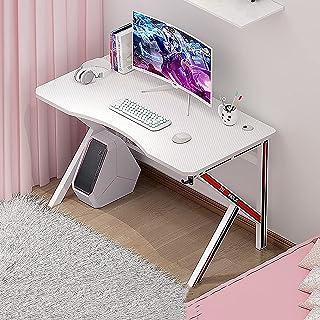 ZWZW Gaming Desk Roze 47 Inch met Monitor Plank Gaming Tafel Thuis Computer Bureau K-vormige Computer Tafel Volledig Overd...