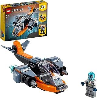 LEGO Creator 3'ü 1 Arada Siber İnsansız Hava Aracı 31111 - Çocuklar için Robot ve Motosiklet İçeren Oyuncak Yapım Seti (11...