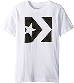 Converse Kids - Seasonal Star Chevron Tee (Big Kids)