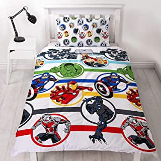 Marvel Avengers - Edredón doble, multicolor, 200 x 135 cm, Blanco, edredón para cama individual