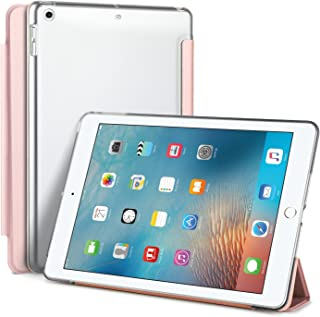 IVSO Apple iPad 9.7 Case - Ultra Slim Smart Case with Semi-Transparent PC Frosted Rubber Back Cover for Apple New iPad 9.7 inch 2017/ 2018 Tablet(Rose Gold)