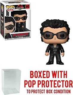 Funko Pop! Movies: Jurassic Park - Dr. Ian Malcolm Vinyl Figure (Bundled with Pop Box Protector Case)