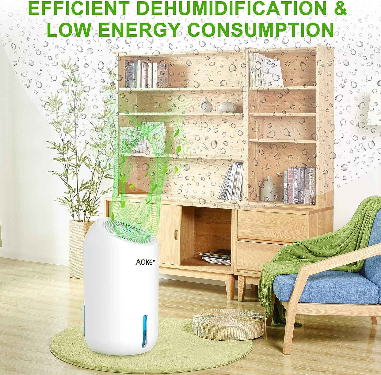 AOKEY Dehumidifier 1000ml Portable Mini Electric Dehumidifier Ultra Quiet Air Cleaner for Home