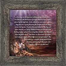 Crossroads Home Décor The Starfish Story, Legend of The Starfish, Thank You or Appreciation Gift for Your Pastor or Teacher, You Can Make a Difference Poem, 10x10 8691BW