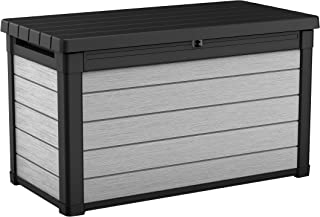 Keter Denali 100 Gallon Resin Large Deck Box-Organization and Storage for Patio Furniture, Outdoor Cushions, Garden Tools ...