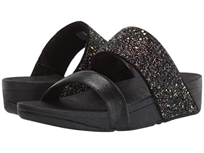 FitFlop Rosa Glitter Slide (Black Mix) Women