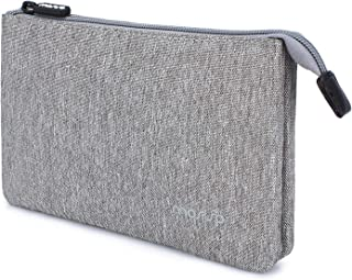 MOSISO Electronics Organizer Case, Water Repellent Zippered Travel Gear Portable Cosmetics Bag Digital Accessories Storage fits Cable Cord Power Bank Earphone Gadgets Compatible iPhone/iPod, Gray