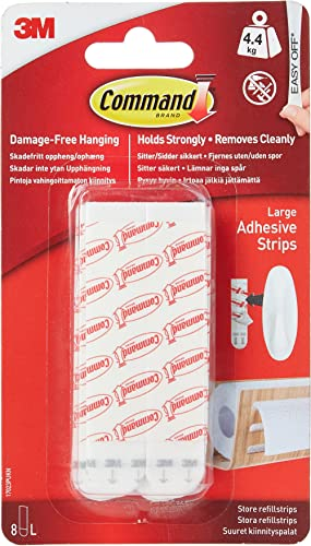 Command Refill Strips, Large, White, 6-Strips (17023P-ES)