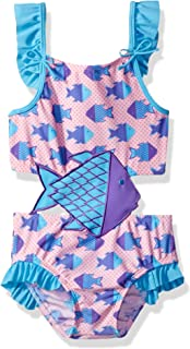 Little Girls' Solo Swim-Toddler-Origami Fish One Piece Swimsuit