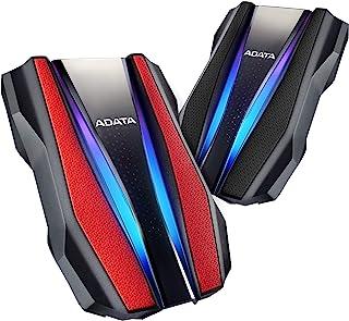 هارد محمول مع USB خارجية 3.1 2 تيرابايت سلسلة متينة HD770G متوافق مع Xbox وبلاي ستيشن 4 من اداتا (AHD770G-2TU32G1-CRD)