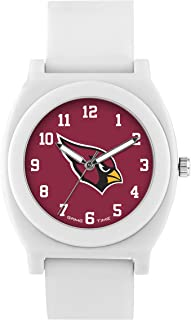 Game Time Women's 'Fan' Quartz Plastic and Rubber Casual Watch, Color:White (Model: NFL-FNW-ARI)