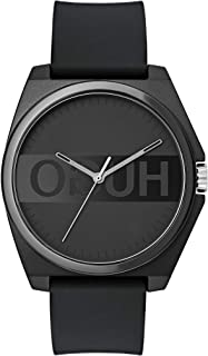 Hugo Boss Unisex-Adult Black Dial Black Silicone Watch - 1520006
