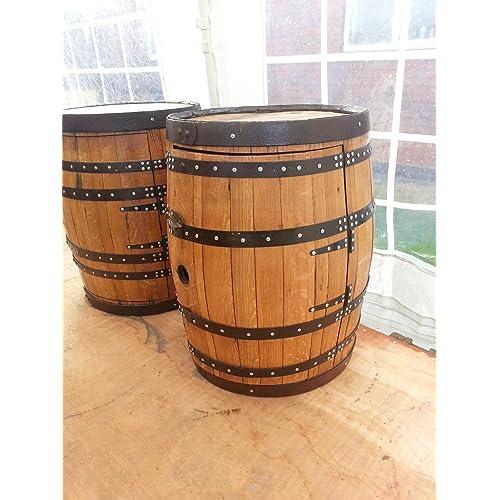 1080cae274 Recycled Solid Oak Scottish Whiskey Barrel Wine Rack