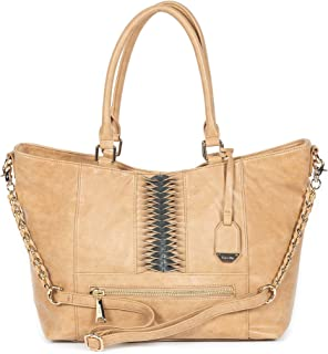 Dolce Vita Women's Vegan Leather Chase Tote Handbag Purse Large Crossbody Bag
