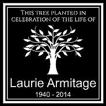 tree dedication plaque