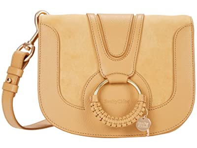 See by Chloe Hana Small Suede Leather Crossbody (Soft Tan) Cross Body Handbags