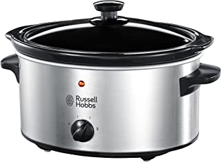 Russell Hobbs Slow Cooker 23200, 3.5 L - Stainless Steel Silver