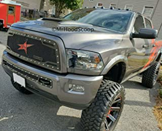 Painted Rumble Bee Hood Scoop Compatible with 2010-2018 Dodge Ram 2500/3500 OE Dimension HS006