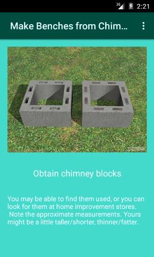 Make Benches from Chimney Blocks