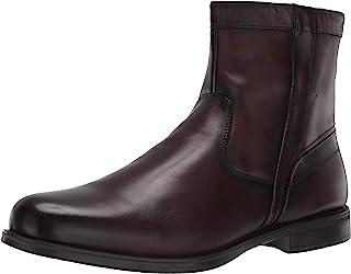 Florsheim Men's Medfield Plain Toe Zip Boot Fashion, Brown, 9.5 D US