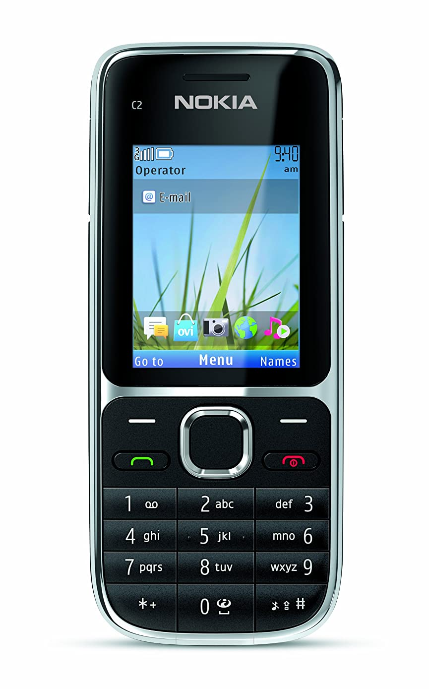 Nokia C2-01.5 Unlocked GSM Phone with 3.2 MP Camera and Music and Video Player--U.S. Version with Warranty (Black)